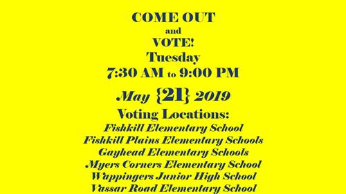 REMINDER: Budget Vote and School Board Election May 21, 2019