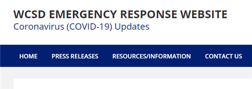 WCSD Emergency Response Website