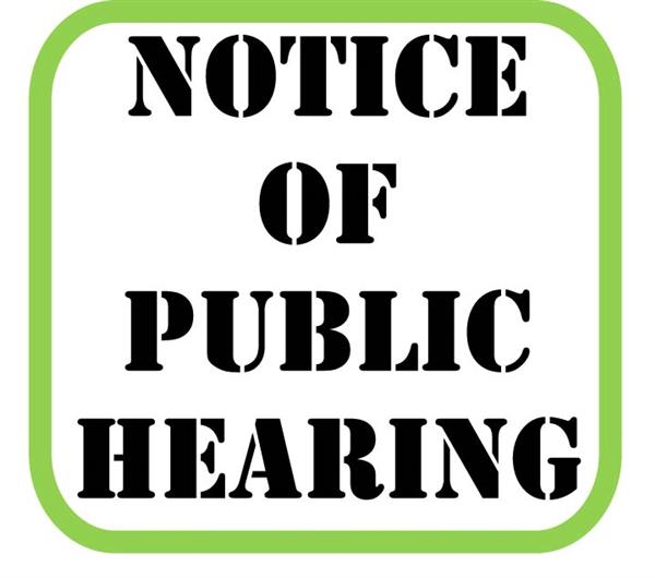 We want to hear from you -- Notice of Public Hearing on the Code of Conduct