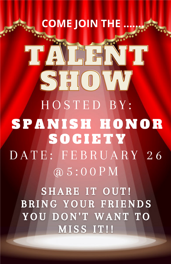 Talent Show Feb 26, 5pm