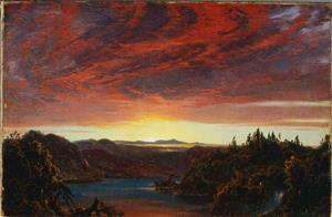 Twilight at Olana, by Fredric Church
