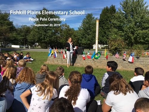 Fishkill Plains Elementary Students Dedicate Peace Pole