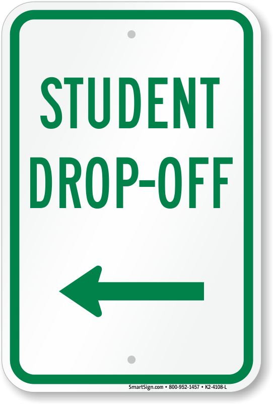 New Student Drop Off Area