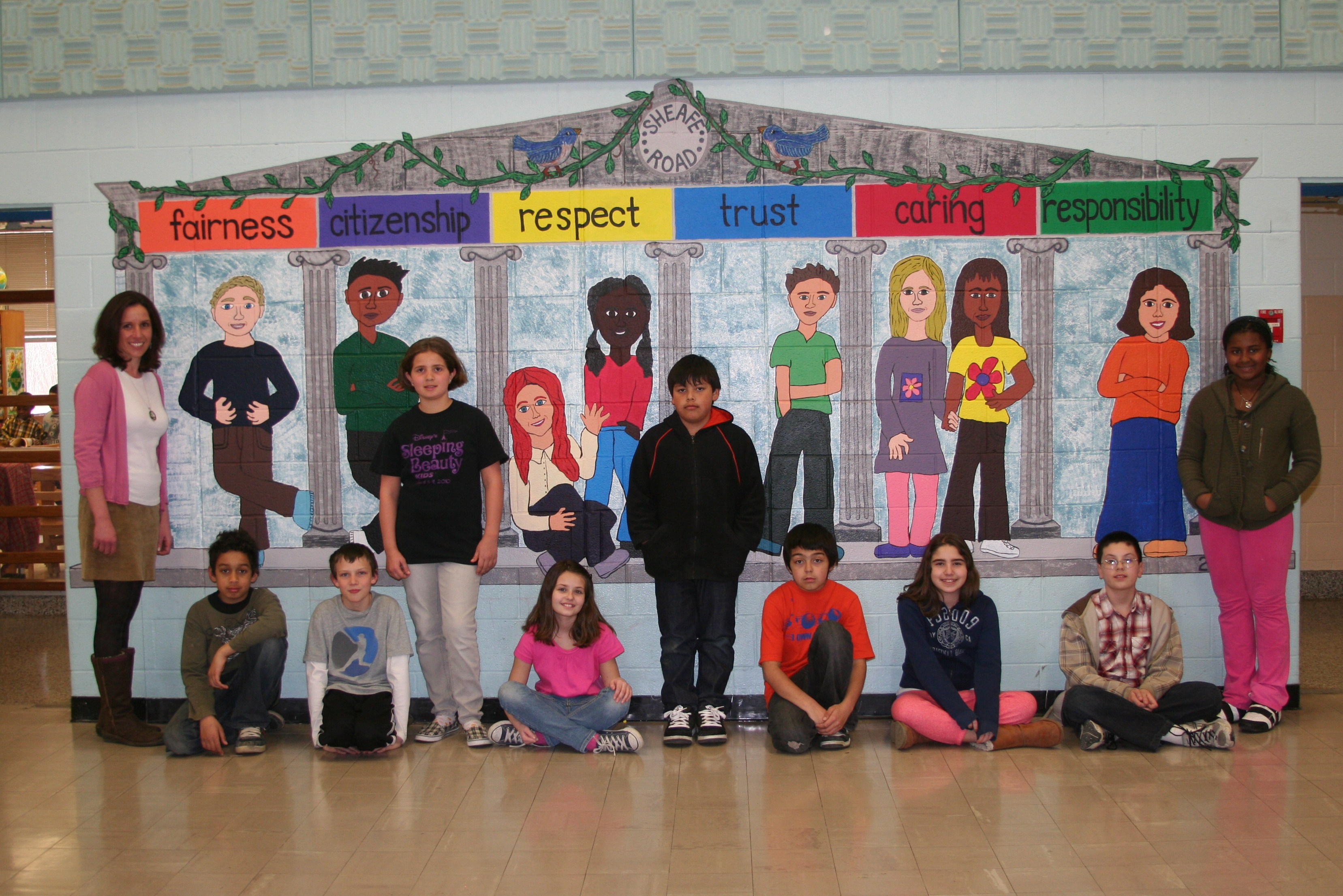 Character education mural overview for Educational mural