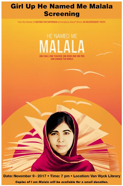 "Girl Up ""He Named Me Malala"" Screening"