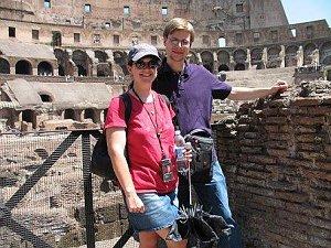 Mio marito ed io a Roma - luglio 2009