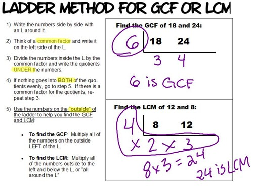 Pre School Worksheets division ladder worksheets Free – Lcm and Gcf Worksheet